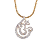 Teardrop Nested Aum Diamond Pendant