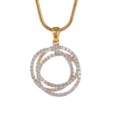 Tri-band Diamond Pendant