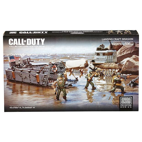 MEGA BLOKS Collector Series Call Of Duty Landing Craft Invasion 06829