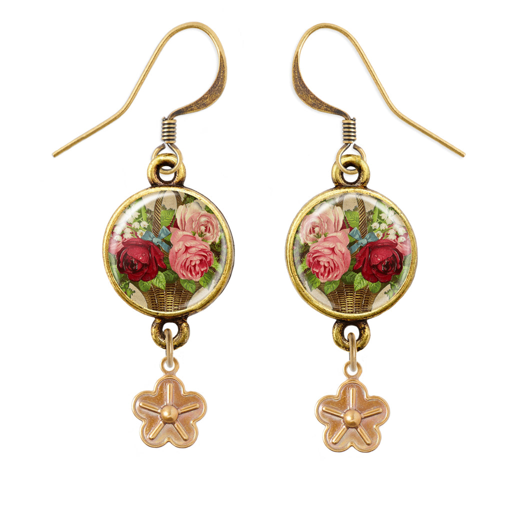Roses Pendant Earrings