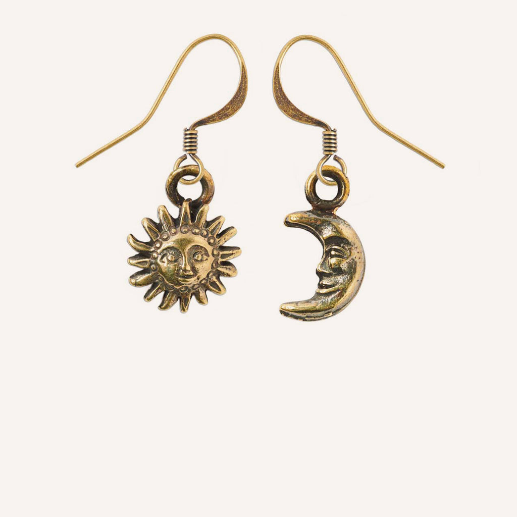 Sun & Moon Charm Earrings