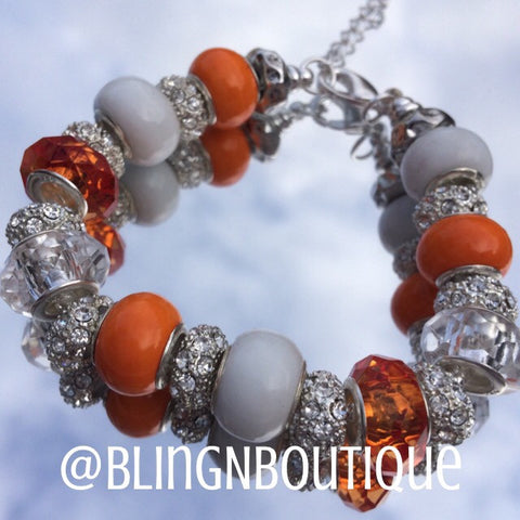 Spirit Bracelet - Orange/White