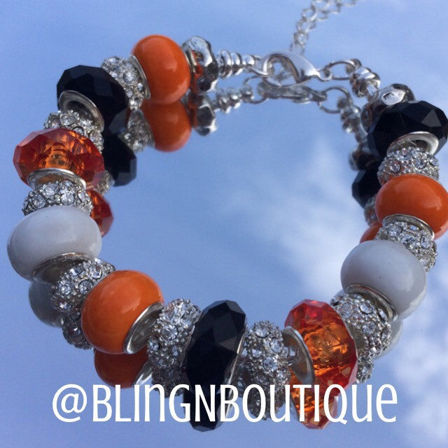 Spirit Bracelet - Orange/White/Black