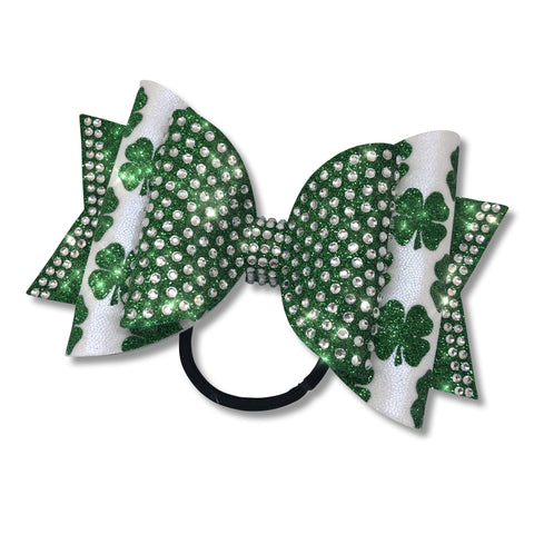 Shamrock Dolly Cheer Bow