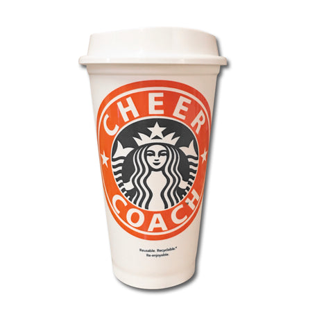 Cheer Coach Starbucks Cup