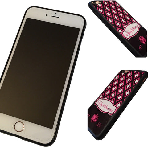 Diamond Monogram Phone Case