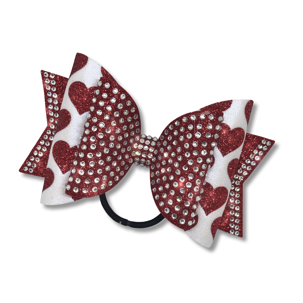 Valentine Dolly Cheer Bow