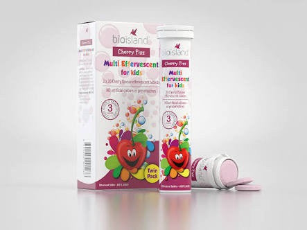BIO ISLAND CHERRY FIZZ MULTI EFFERVESCENT FOR KIDS