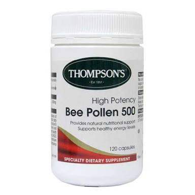 Thompson's Bee Pollen 500mg Capsules 120