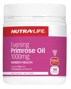 Nutralife Evening Primrose Oil 1000mg 180C