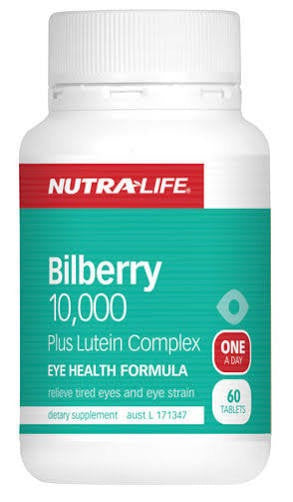 Nutralife Bilberry 10,000 Plus Lutein Complex