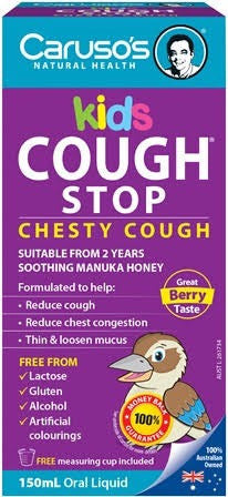 Caruso's Kids Cough Stop 150ML