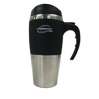 Thermocafé by Thermos - Double Wall Stainless Steel Inner Travel Mug 450ml (Black, Red, Blue)