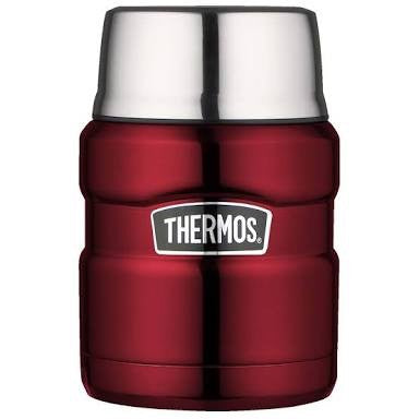 Thermos - Stainless King Stainless Steel Vacuum Insulated Food Flask 470ml Red