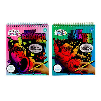 Smiggle party scratch book
