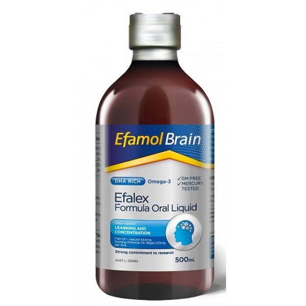 EFAMOL EFALEX BRAIN OMEGA-3 ORAL LIQUID 500ML