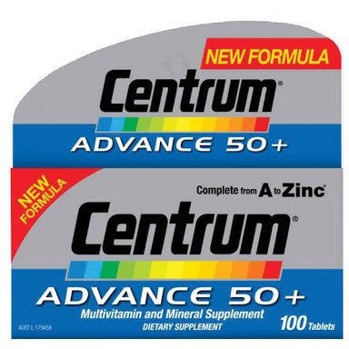 Centrum Advance 50+ 100 Tablets