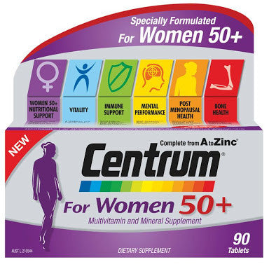 Centrum For Women 50+ 90 Tablets