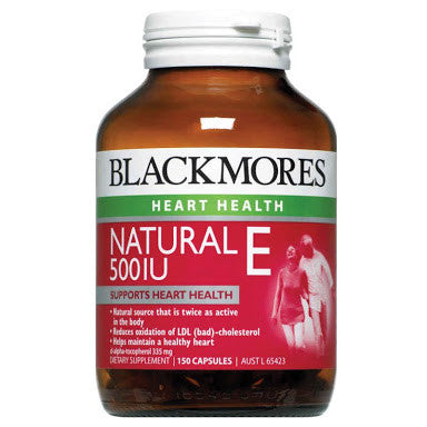 Blackmores Natural Vitamin E 500IU 150 Capsules