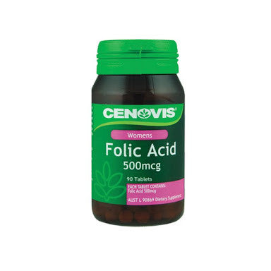 Cenovis Folic Acid 500mcg 90 Tablets