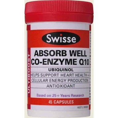 Swisse Ultiboost Absorb Well Co-Enzyme Q10 45 Capsules