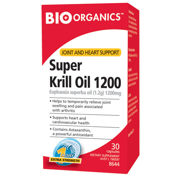 Bio-Organics Super Strength Krill Oil 1200mg 30 Capsules