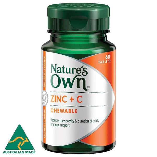 Nature's Own Zinc + C 60 Lozenges