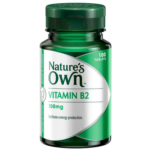 Nature's Own Vitamin B2 100mg 100 Tablets