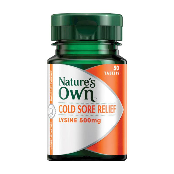 Nature's Own Cold Sore Relief (Lysine) 50 Tablets