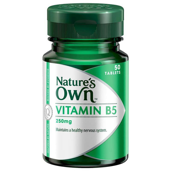 Nature's Own Vitamin B5 250mg 50 Tablets