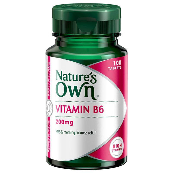 Nature's Own Vitamin B6 200mg 100 Tablets