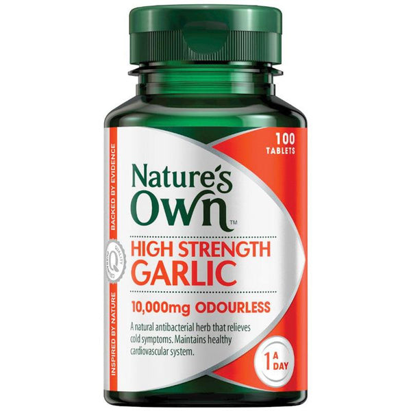 Nature's Own High Strength Garlic 10000mg 100 Tablets