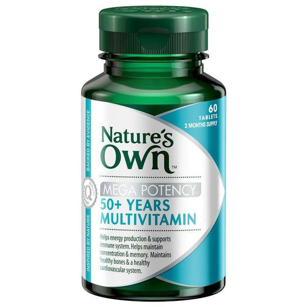 Nature's Own 50+ Years Multivitamin Mega Potency 60 Tablets