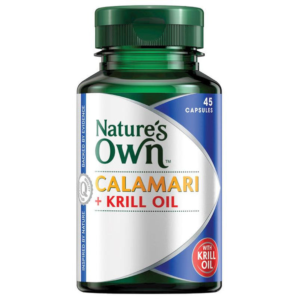 Nature's Own Calamari + Krill Oil 45 Capsules