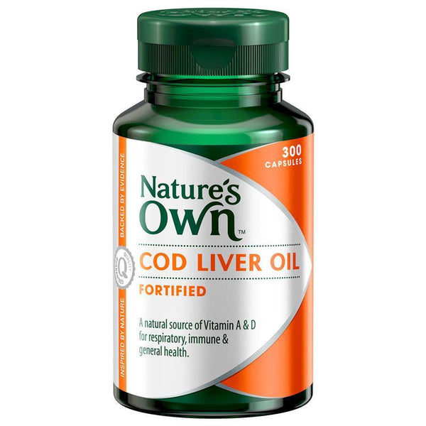 Nature's Own Cod Liver Oil 300 Capsules