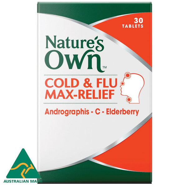 Nature's Own Cold & Flu Max-Relief 30 Tablets