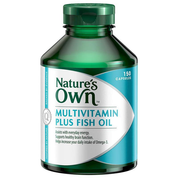 Nature's Own Multi Vitamin Plus Omega 3 Fish Oil 150 Capsules