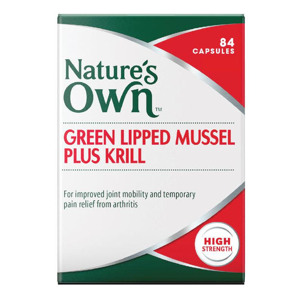 Nature's Own Green Lipped Mussel Plus Krill 84 Capsules
