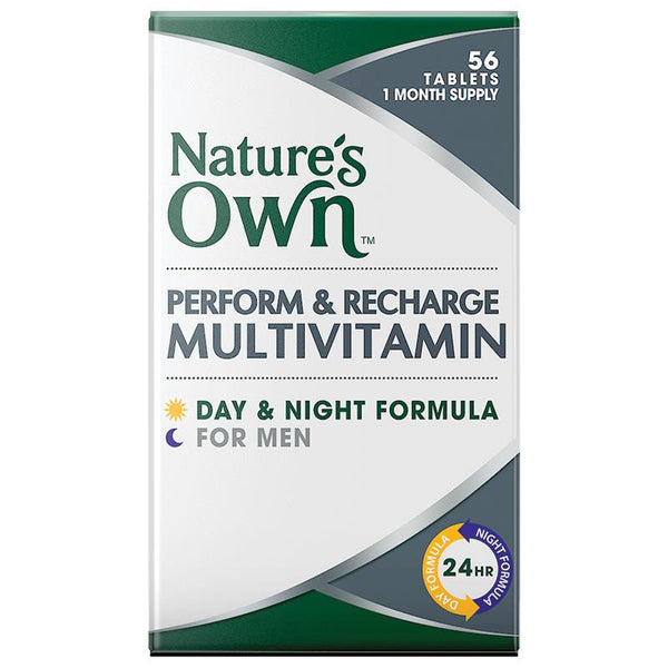Nature's Own Perform & Recharge Mens Day & Night Multivitamin 56 Tablets