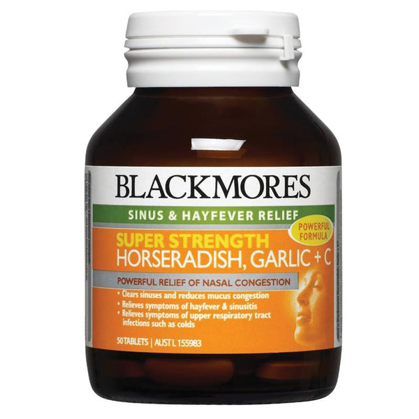 Blackmores Super Strength Horseradish Garlic + C