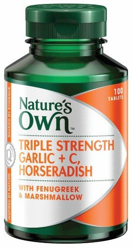 Nature's Own Triple Strength Garlic C Horseradish