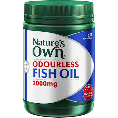 Nature's Own Odourless Fish Oil 2000mg 200 Capsules