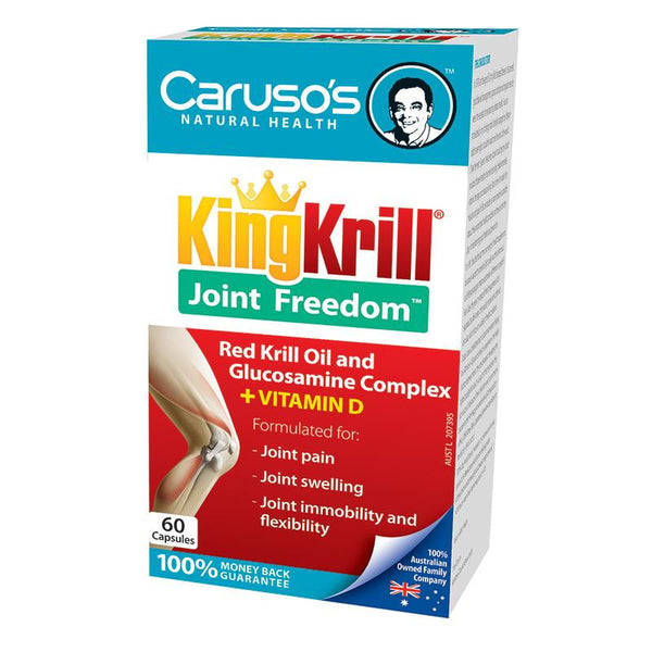 Carusos Natural Health King Krill Joint Freedom 60 Capsules