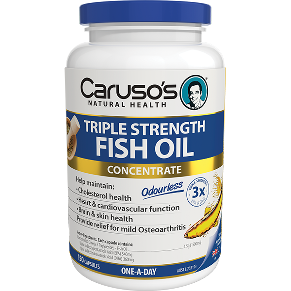 Carusos Natural Health Ultra Max Triple Strength Fish Oil 150 Capsules