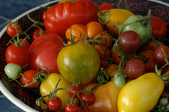 Heirloom tomato mix grown at Sage Garden