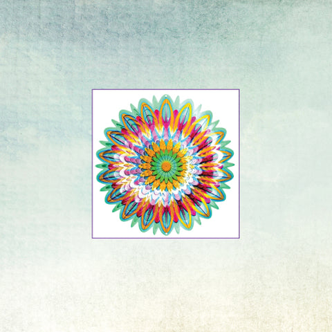 SpinFinity Designs Wind Spinner - Floral Mandala - Small
