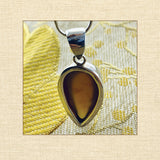 Pendant and Chain - Amber and Sterling Silver