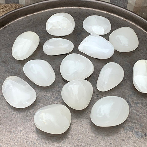 White Aragonite Tumbled Stone