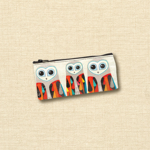 Blue Q Recycled Pencil Case - Hoo's Next