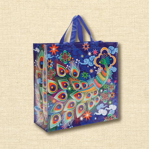 Blue Q Recycled Shopper Bag - Peacock